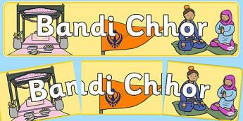 Bandi Chhor Display Banner - Sikhism, hindu, religion, faith, sikh, temple, RE