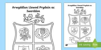 Taflen Liwio Arwyddlun Llewod Prydain ac Iwerddon - Taith y llewod, lions, rugby, rygbi, chwaraeon, sports, Cymru, Wales, British, Prydain,Welsh