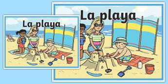 Cartel La playa
