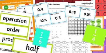 KS3 Maths Fractions Catch Up Resource Pack - ks3, maths, catch up