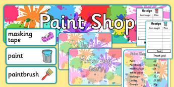 Paint Shop Role Play Pack - paint shop, role play, pack, paint, shop, role, play