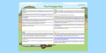 The Prodigal Son Lesson Plan Ideas KS1 - lesson plan, ideas, KS1