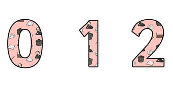 Charles Dickens Themed A4 Display Numbers - charles dickens, display numbers, themed number, classroom number, numbers for display, a4 numbers, numbers