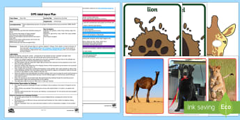 EYFS Footprints in the Mud Adult Input Plan and Resource Pack - Dear Zoo, Rod Campbell, animals, letter to the zoo, small world animals, lion, giraffe, monkey, pupp