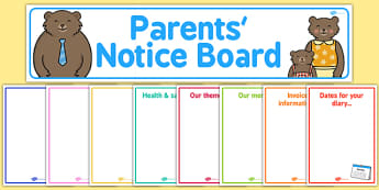 Childminder Parents' Notice Board Pack - childminder, parent, pack