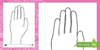 Diwali Hand Outline Activity Sheet - Celebration, colouring, create, decorate, fees, kleur, EAL, worksheet