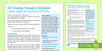 KS1 Drawing Through to Animation Lesson Ideas - the big draw, art ideas, creativity, simple animation, moving pictures