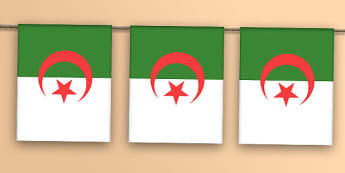 Algerian Flag Bunting - africa, north, north africa, olympics, rio, 2016, flag, flags, country, countries, world, bunting, display, events