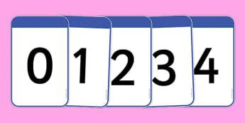 Cardiau Rhif 0-20 - numeracy, digit card, math, number recognition