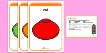 Foundation PE (Reception) Activity Traffic Lights Warm-Up Activity Card - physical activity, foundation stage, physical development, games, dance, gymnastics