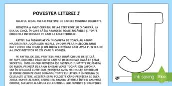 Litera J Poveste - poveste, povești, litera j, clasa pregătitoare, alfabet, povestea literei,Romanian