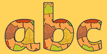 Fall Themed Display Lettering - fall, display lettering, fall display lettering, lettering, lettering for display, a4 display letters, a4 letters