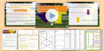 KS3 Half Term 1: Number and Place Value - Lesson 5 (Rounding to the Nearest 10, 100 and 1000) Lesson Pack - Up, Down, Mastery, Problem Solving, Challenge, Rules, nearest, truncating