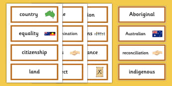 National Reconciliation Week Word Cards - australia, National Reconciliation Week, word cards, vocabulary, wall display