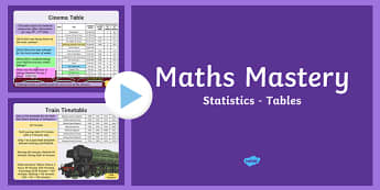 Year 5 Statistics Tables Maths Mastery PowerPoint