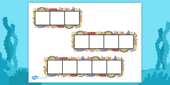 Under the Sea Phoneme Frames - Phoneme Frames printable, Under the Sea, phoneme frame, phoneme, phonemes, Segmenting, DfES Letters and Sounds, Letters and sounds, KS1 Literacy, Phase one, Phase 1, Phase two, Phase 2, Phase three, Phase 3