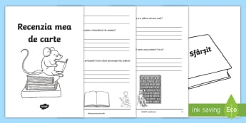 Recenzie de carte Broșură - scriere, citire, analiză text, comentarii, română,Romanian