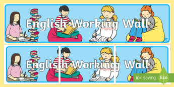 KS1 English Working Wall Display Banner - Y2, Literacy, learning prompts, writing, classroom environment