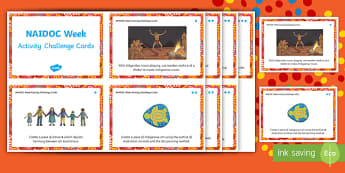 NAIDOC Week Activity Challenge Cards - NAIDOC Week, Australian history, Aboriginal history, activity cards,Australia