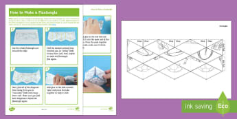 KS2 Sporting Flextangle Paper Craft - football, hockey, rugby, strips, balls, mindfulness, colouring