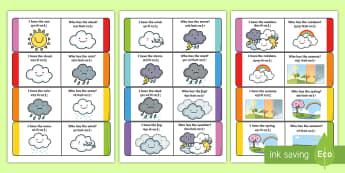 Weather Loop Cards English/Hindi - weather, loop cards, loop, cards, activity, waether, WHEATHER, wetaher, weaher,EAL.