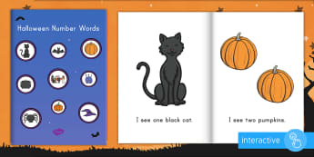 Halloween Number Words Emergent Reader eBook - Sight Words, Halloween, Autumn, Spiders, Bats, Black Cats, Guided Reading, Emergent Readers, Early L