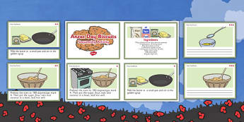 Anzac Biscuit Sequencing Activity - Anzac biscuits, sequencing, instructions