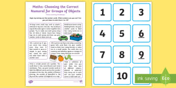 Selects the Correct Numeral Home Learning Challenges - EYFS, Early Years, Homework, Home School Links, Mathematics, Maths,  40-60, Selects The Correct Nume