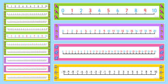 Bush Magic Number Lines Pack up to 30 - australia, bush magic, possum magic, number lines