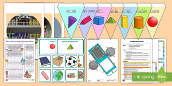 Childminder Maths: 3D Shapes EYFS Resource Pack - shape space and measures, child minder, childminding, cube, cuboid, pyramid,