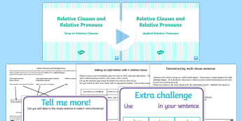 Use Relative Clauses Lesson Ideas and Resource Pack UKS2 - KS2