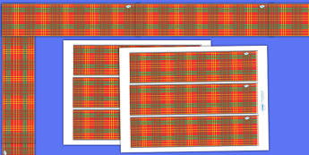 Tartan Display Borders - Tartan, Scotland, Scottish, display border, classroom border, border, country, pattern