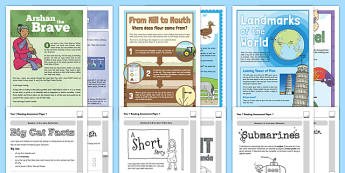 Year 1 Reading Assessments Pack - year 1, reading, assessment, pack