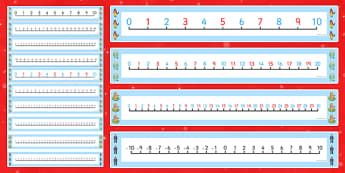 Number Lines Pack Up to 30 to Support Teaching on The Jolly Christmas Postman - jolly christmas postman, number line