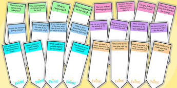 AF Guided Reading Question Bookmarks - assessment focus, assessment focus bookmarks, af bookmarks, assessment focus reading, assessment focus questions, af
