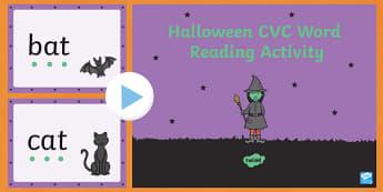 Halloween CVC Word Reading PowerPoint