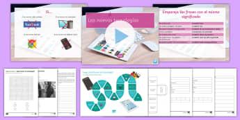 New Technologies Lesson 4: Si Clauses Lesson Pack - KS4, Spanish, New Technologies, everyday, life, ordenador, movil, teléfono, tableta, portatil, vide