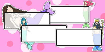 The Little Mermaid Editable Self Registration - name tags, story