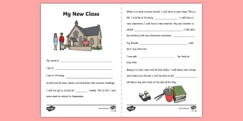 New Class Editable Social Story - transition, new beginning, new class, primary, social story