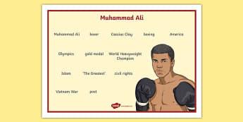 Muhammad Ali Word Mat Word Mat