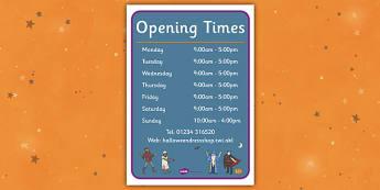 Halloween Fancy Dress Shop Role Play Opening Times - halloween, fancy dress shop, role play, opening times, role play opening times, roleplay, times