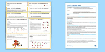 Rugby: Tackling Lesson Pack - PE, Rugby, KS3, tackling, lesson plan, drills