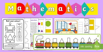 Childminder Maths: 2D Shapes EYFS Resource Pack - shape space and measure, child minder, childminding, square, circle, rectangle, triangle