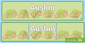 Auslan Banner - Auslan, Australian Sign Language, Deaf, Deaf Awareness, Deaf Community, display banner,,Australia