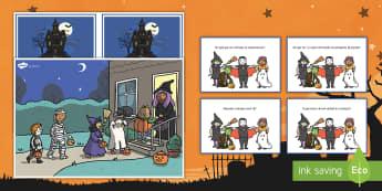 Halloween, cartões de cena e perguntas - halloween, festa de halloween, dia das bruxas, bruxas, vampiros, monstros, fantasmas, terror, celebr