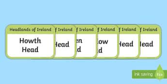 Headlands of Ireland Flashcards