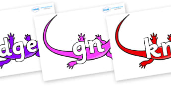 Silent Letters on Skink Lizards - Silent Letters, silent letter, letter blend, consonant, consonants, digraph, trigraph, A-Z letters, literacy, alphabet, letters, alternative sounds