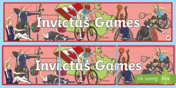 Invictus Games Toronto Banner - KS2 - Invictus Games - 23rd Sept 2017
