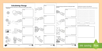 Calculating Change Activity Sheet