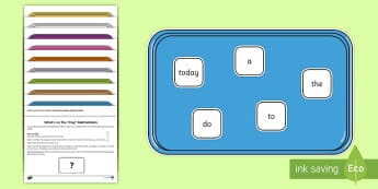 What's on the Tray? Year 1 Common Exception Words Memory Activity Pack - common exception words, year 1, year 2, Visual Stimulus, Visual Memory, Auditory Processing Disorder